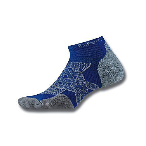 Thorlo Experia Energy Compression No Show Chaussettes Mixte Adulte, Royal Blue, FR : S (Taille Fabricant : S)