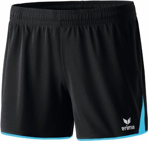 Erima Damen Classic 5-C Shorts, schwarz/curacao, 38