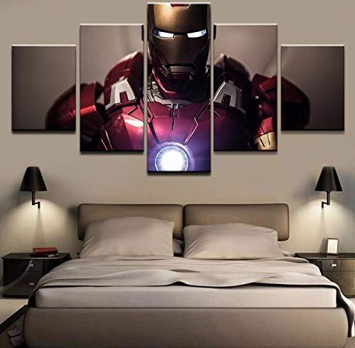UYEDSR 5 stücke leinwand Gemälde und Poster Marvel Avengers Iron Man Film Iron Man gemalt Bild wandbilder Kunstdruck Wohnzimmer Home Wand