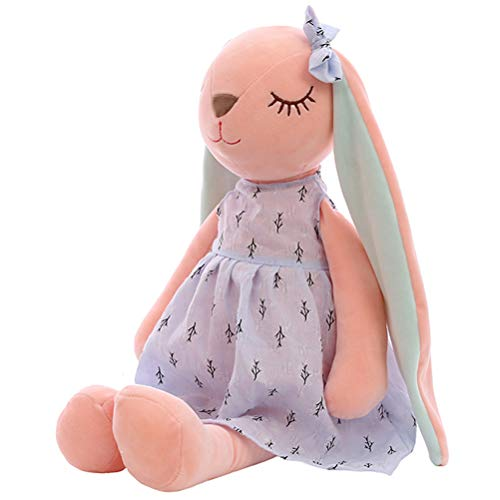 Einsgut 35cm Hasenpuppe Hält Stofftier Spielzeug Plüschpuppe für Kinderkaninchen Schlafengehilfen Plüsch Tierspielwaren
