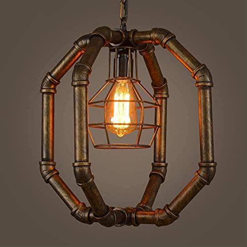 Samanth Lámpara de pared de moda American loft retro agua pipa lámpara industrial metal hierro lámpara isla lámpara de la cocina lámpara E27 base restaurante creativo bar café salón lámpara