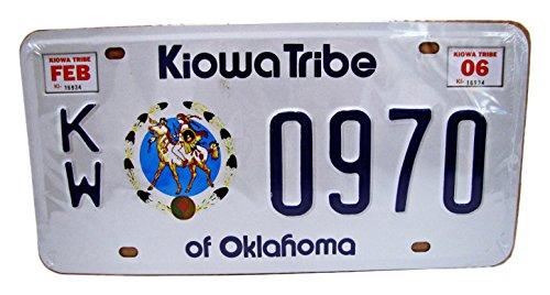 Dioramax – 67/46 – Plaat Auto – Oklahoma – Kiowa Tribe – Wit / Blauw – ladder – 1/1