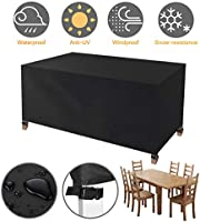Tvird Garden Furniture Cover, Garden Table Covers, Heavy Duty 420D Oxford Fabric Patio Furniture Covers Waterproof...