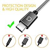 Gritin USB C Cable, [3-Pack/1M+1.5M+2M] USB Type C Fast Charging Cable - Nylon Braided USB C Sync Cable for Galaxy S10/S9/S8+/S8, MacBook, iPad Pro 2018, Sony XZ, HTC 10, OnePlus 5T, Huawei P9 etc.