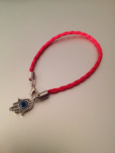Kabbalah Red String Bracelet Against Evil Eye with Hamsa Hand