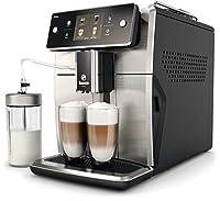 saeco sm7683/10 xelsis - macchina da caffè completamente automatica con 15 specialità (touch screen, 6 profili utente), 18/8, acciaio inox / nero