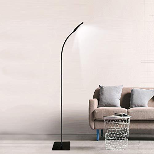 LED Stehleuchte Moderne Lesestelle Dimmbare Schwanenhals Stehleuchte, 3 Farbtemperaturen und 5 Helligkeitsstufen, Lange Lebensdauer Touch Control Stehleuchte für Wohnzimmer Schlafzimmer Büro