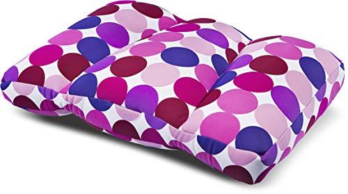 Invitalis Kuschel-Maxx - Orthopädisches Schlafkissen für jeden Schlafstil - Atmungsaktiv, Öko tex 100 Zertifiziert & flauschig weich mit Mikroperlen Füllung - 60x40 cm - Lila / Rosa Kreise