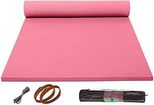 Esterilla de yoga antideslizante respetuosa con el medio ambiente Tpe Yoga Mat espesada y alargada, adecuada para gimnasio y gimnasia, esterilla unisex, 10 mm_#1