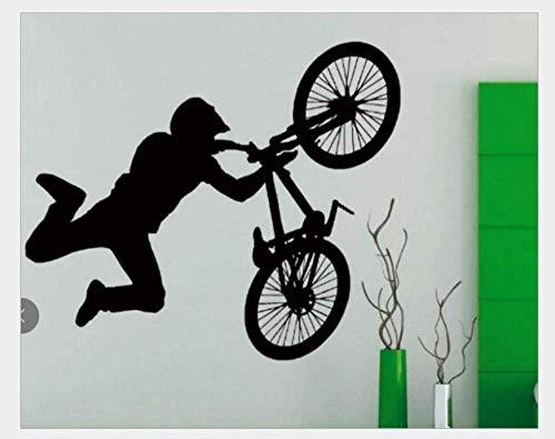 Pegatinas De Pared Bicicleta Personalidad Pegatinas de pared Sala de estudio Sala de estar Dormitorio Sofá Fondo Decoración de la pared 50 * 42Cm