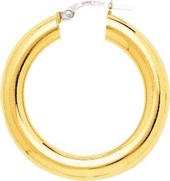 ROBYN - Orecchini a cerchio in oro giallo 18 carati, diametro 20 mm, spessore 5 mm