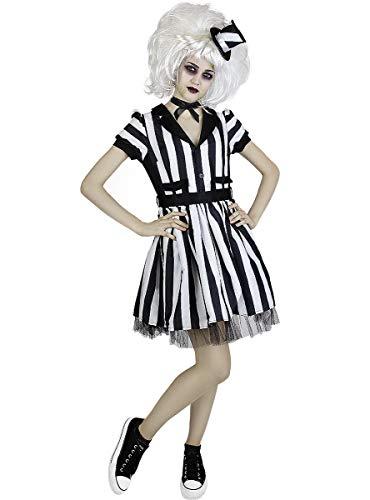 Funidelia   Disfraz de Beetlejuice Oficial para Mujer Talla L Tim Burton, Pelculas de Miedo, Terror - Multicolor