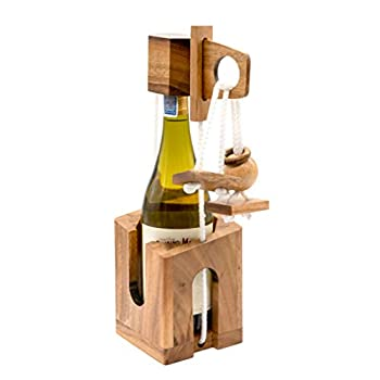 Wine Gifts Whiskey Bewildering with Impossible Glass Bottle Puzzle Lock of The Unique Couples Game Gift Lover for Adult Board Games Party with Fun Classic Brain Table Games