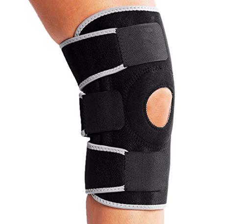 Rodillera de neopreno apoyo de la rodilla totalmente ajustable alivio seco transpirable abierto rótula dolor en la rodilla del menisco, la artritis, fútbol.