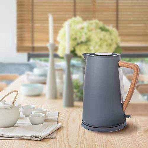 1800W Stainless Steel Electric Kettle With Wooden Plastic Handle 1.7L /304 Food Grade SS Heating Water In 5 Minute