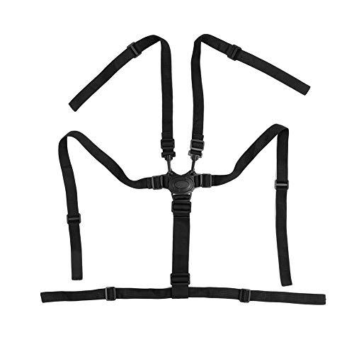 Correas universales para silla alta de 5 puntos, arnés para cinturón de seguridad de repuesto cinturón de seguridad para cochecito de bebé protección giratoria ajustable para silla de paseo