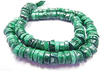 "Jewel Beads Natural Beautiful jewellery 13"" Strand Natural Gemstone 6-7 Mm Plain Tyre Shape Beads MalachiteCode:- JBB-19193"