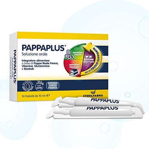 Multivitaminico a Base Di Pappa Reale Fresca, Vitamine gruppo B, C, D3, Glutammina e Baobab (In Fiale) - Pappaplus
