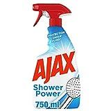 AJAX - Nettoyant Ménager Ajax Shower Power 2 en 1 - Produit Multi Surfaces Anti-Calcaire pour Salle de Bain - Protection Longue Durée - Flacon Spray 750 ml