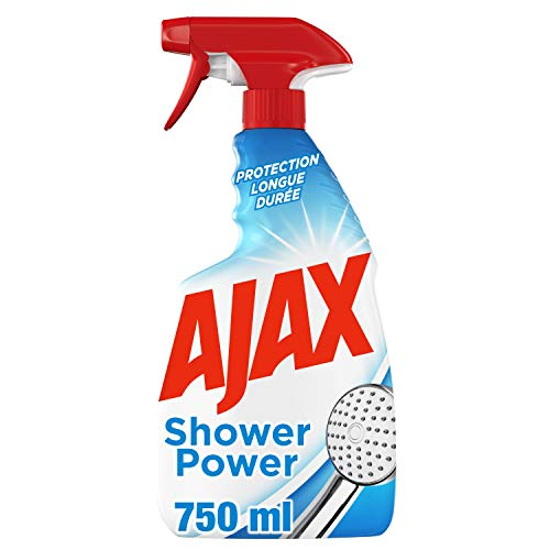 Ajax Ajax Shower Power 2-in-1 Reinigungsmittel für Haushalt – Produkt für verschiedene Oberflächen gegen Kalk für Badezimmer – langanhaltender Schutz – Flasche Spray 750 ml