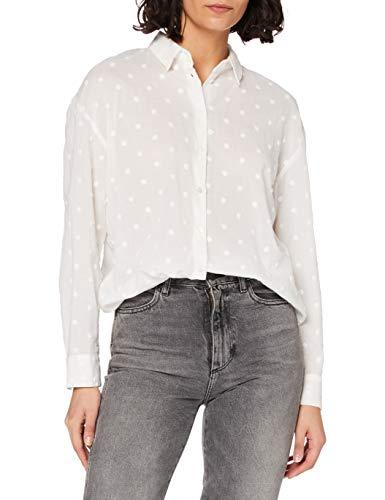 ONLY Damen ONLJINNY L/S Shirt WVN Bluse, Cloud Dancer, M