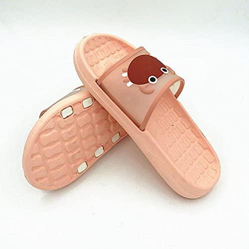 MDCGL Zapatos De Piscina Zapatillas Eva para Parejas de baño para Hombres y Mujeres, Zapatos de Ducha Descalzos, Chanclas Suaves para casa, para Interior, jardín, Rosa, EU 36