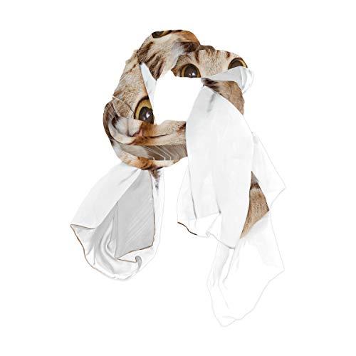 Papier Wand süße Katze quadratische Taschentuch 90 x 180 cm Kopf Wraps für Frauen Mädchen Damen gefallen Print Blume leichte Schal Schal