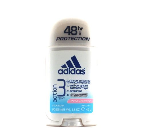 Adidas 48 Hour Action 3 Tech Anti-perspirant Deodorant - Pure Powder 1.6 Oz.