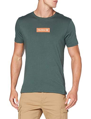 Hurley M O&O Small Box S/S tee Camiseta, Hombre, Vintage Green/Light Bone, S