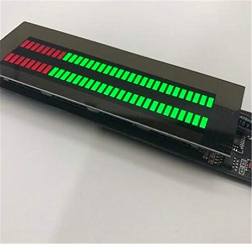 WUHUAROU DC 12v 24v Indicador De Nivel De Audio Espectro De Música Estéreo Amplificador De Luz LED Medidor VU para Reproductor De MP3 De Coche Lámparas De Atmósfera (Color : Multi-Mode G-R)