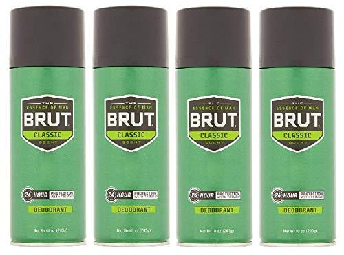 BRUT Deodorant Spray Classic Scent 10 oz (Pack of 4)