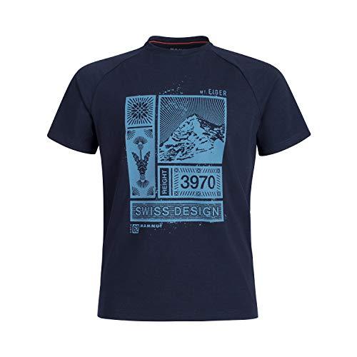 Mammut Herren T-shirt Mountain, blau, XL