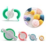 Oulian Pom Pom Maker, 4 Tamaños Fluff Ball Weaver Needle PomPom Maker Juegos, Hilado de lana Knitting Craft Tool Set Fabricante de pom-pom para niños y adultos - 38mm 48mm 68mm 88mm