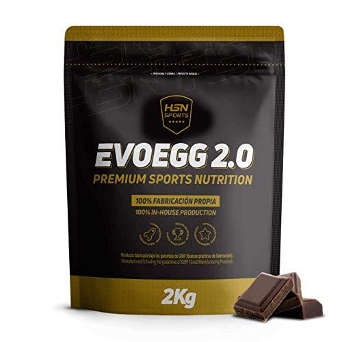 Proteína de Huevo de HSN Evoegg 2.0 | 100% Albúmina de Huevo en Polvo - Egg Protein | Para personas intolerantes a la lactosa y ovo-lactovegetarianos | Sin Gluten, Sin Lactosa, Sabor Chocolate, 2Kg