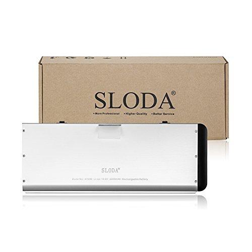 """SLODA Batería para MacBook 13"""" A1280 A1278 (Finales de 2008 Versión) Batería Repuesto para Portátil [Li-Polymer 10.8V 5400mAh]"""