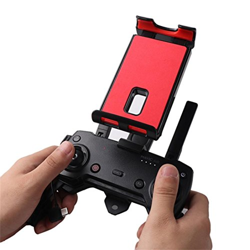 QHJ Faltbare Tablet Ständer Halter Extender mit Lanyard für Mavic Pro/Mavic Air/für DJI Funken Fernbedienung Gerät Mit 360 Drehen (As Show)