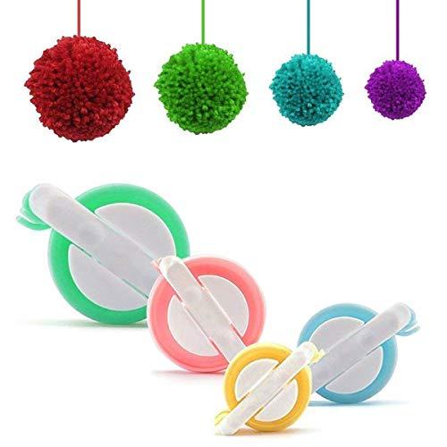 Ouinne Pompom Makers, 4 Tailles Boule Maker de Tissage DIY Tricot Outil pour Fabriquer des Pompons, Boule Maker