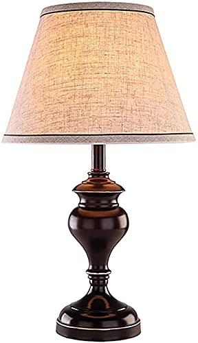 Lámpara de mesa para dormitorio americano de hierro forjado lámpara de mesa lámpara de noche lámpara de cama simple lana lámpara aplicable dormitorio estudio estudio de sala de estar para dormitorio y