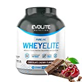 Evolite Nutrition WheyElite 2270g - Proteina Whey - Crear Batidos Para Adelgazar - Proteinas Para Aumentar Masa Muscular - Proteina Isolada (Cereza de chocolate)