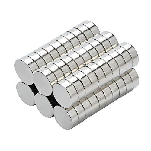 Yizhet 50 Stück Magnete Ultra Magnet Supermagnete Haushaltsmagnete 8x3 mm Mini Magnet für Magnettafel, Whiteboard, Tafel, Pinnwand, Kühlschrank u.v.m. (8 x 3 mm)