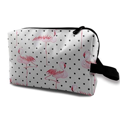 Hdadwy Flamingo-Vögel auf minimalistischen stilisierten tragbaren Reisekosmetiktaschen Make-up-Organizer-Taschen Toilettenpapier-Organizer-Hüllen mit großer Kapazität Reisetasche Geldbörse