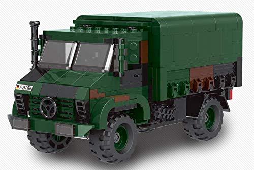 BlueBrixx 06044 Marke Xingbao – LKW 2t GL, Bundeswehr aus Klemmbausteinen mit 411 Bauelementen. Kompatibel mit Lego. Lieferung in Originalverpackung.