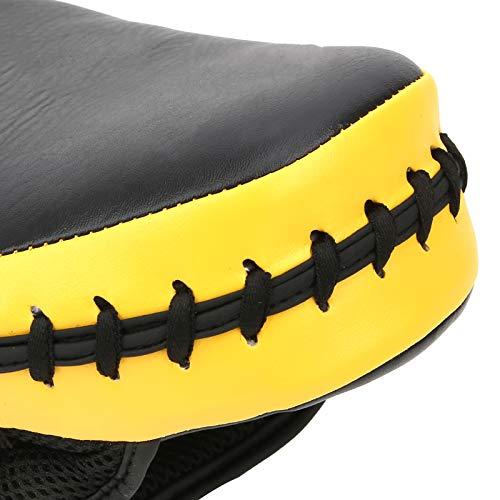 Jinyi Almohadilla de perforación de Taekwondo, Almohadilla de Boxeo, Resistente al Desgaste Negro + Amarillo para Karate Taekwondo