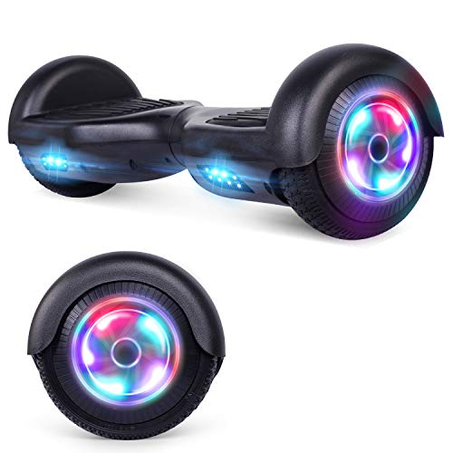 UNI-SUN Hoverboard for Kids Two-Wheel Self Balancing Hoverboard with LED Lights - UL 2272 Certified,Black Without Bluetooth