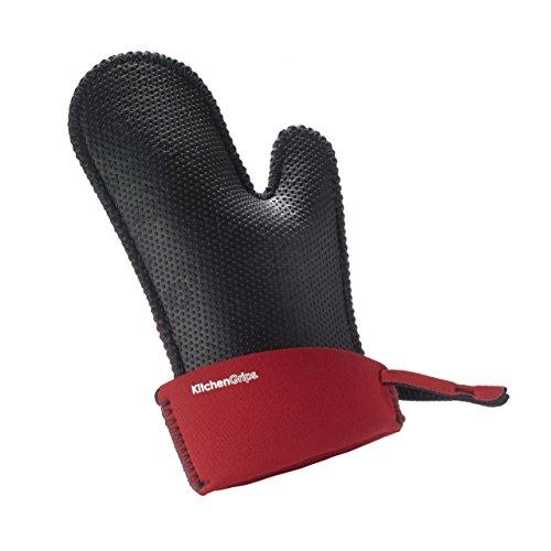Kitchen Grips erweiterbarer Kochhandschuh -  rot 110117-11 hitze- und kältebeständig, schmutzabweisend, hygienisch und rutschfest. Schmal. Maße:27,5 x 18,5 x 2 cm
