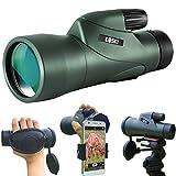 Gosky(ゴースカイ) 12×55 高解像度 単眼鏡 望遠鏡 クイックスマートフォンホルダー 2019年版 防水単眼鏡 BAK4プリズム 野生動物/野鳥観察 狩猟 キャンプ 野生動物/景色を楽しむ旅行に最適