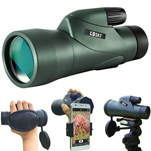 Gosky 12 x 55 High Definition Monokulares Fernrohr und Schnelles Smartphone