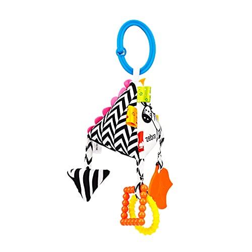 SH-RuiDu Cochecito de bebé colgante juguete, blanco y negro forma geométrica juguete bebé cama cuna asiento de coche juguete