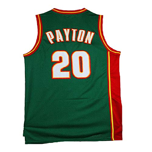 Haeyev Men's Payton Retro Jersey Athletics Gary Jersey Basketball #20 Jersey Green(S-XXL)(L)