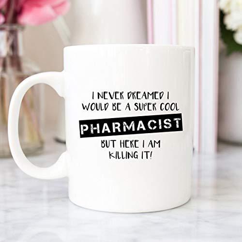 DKISEE Regalo farmacéutico, farmacéutico, estudiante de farmacia, taza de café, té y café, farmacéutico, regalo de farmacia, regalo de graduación, farmacia, técnica de farmacia, taza de té de café